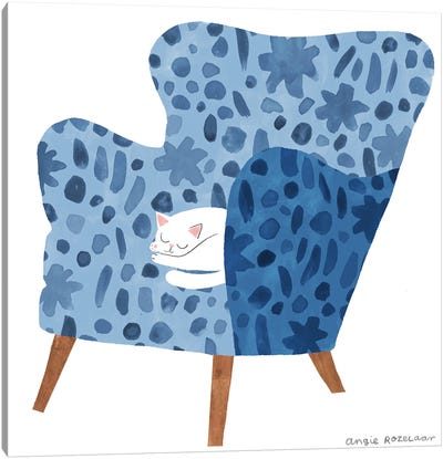 My Chair (Blue) Canvas Art Print
