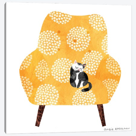 My Chair (Tangerine) Canvas Print #ARZ12} by Angie Rozelaar Canvas Wall Art