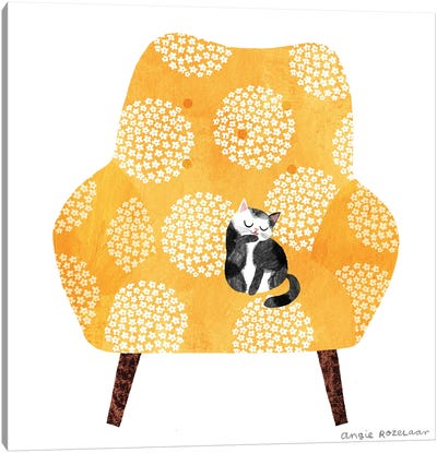 My Chair (Tangerine) Canvas Art Print