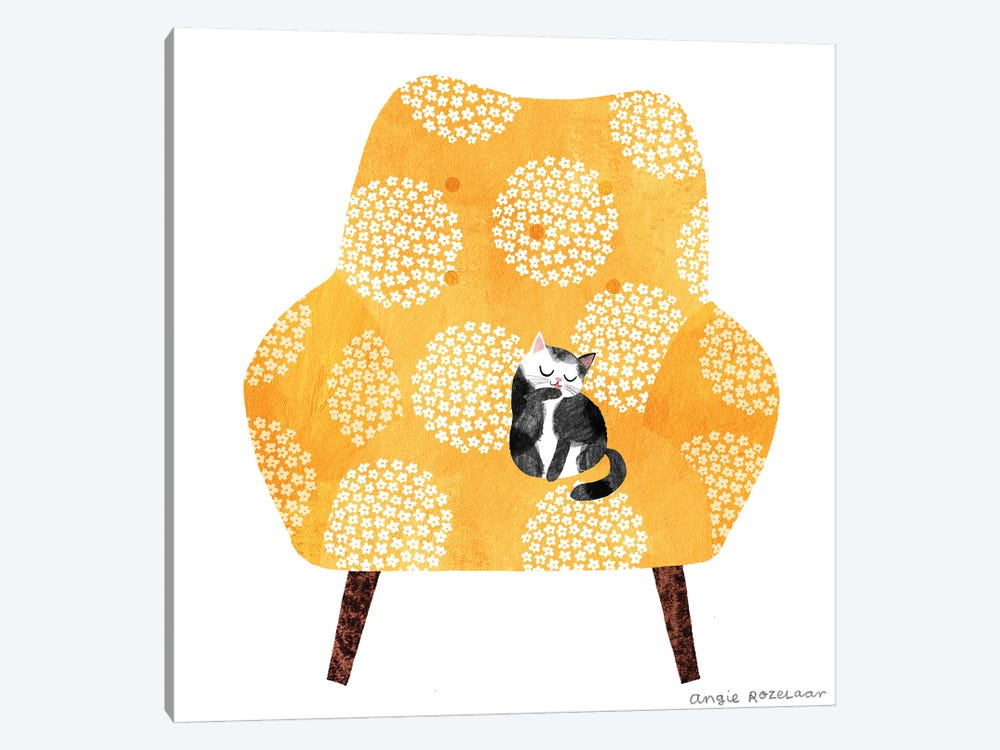 My Chair (Tangerine) by Angie Rozelaar 1-piece Canvas Wall Art