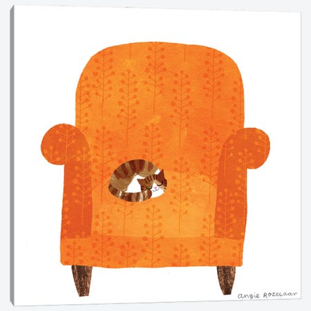 My Chair (Pumpkin) Canvas Print #ARZ13} by Angie Rozelaar Canvas Art