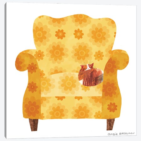My Chair (Gold) Canvas Print #ARZ14} by Angie Rozelaar Canvas Print