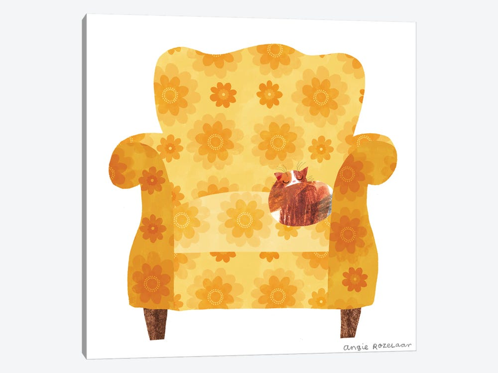 My Chair (Gold) by Angie Rozelaar 1-piece Canvas Artwork