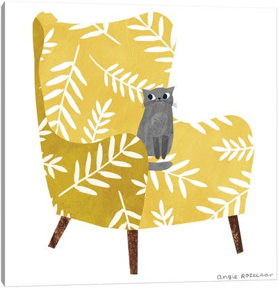 My Chair (Mustard) Canvas Art Print