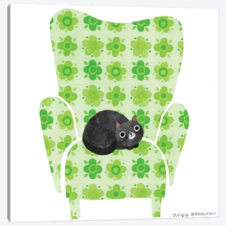 My Chair (Pea Green) Canvas Print #ARZ17} by Angie Rozelaar Canvas Print