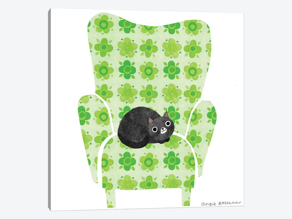My Chair (Pea Green) by Angie Rozelaar 1-piece Canvas Art Print