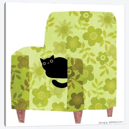 My Chair (Lime Green) Canvas Print #ARZ18} by Angie Rozelaar Canvas Artwork