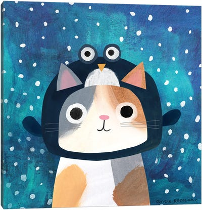 Penguin Hat Canvas Art Print