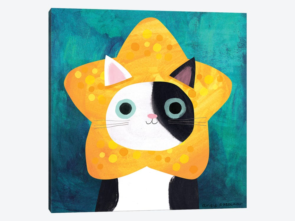 Star Cat by Angie Rozelaar 1-piece Art Print