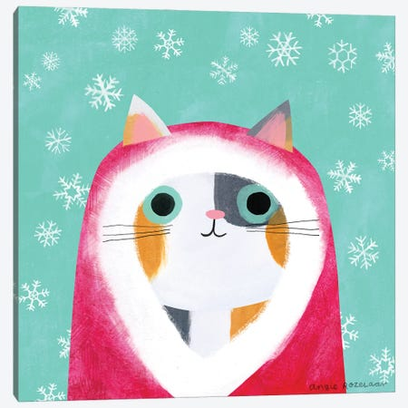 Santa Cat Canvas Print #ARZ21} by Angie Rozelaar Art Print