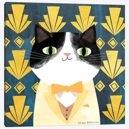 The Great Catsby Canvas Print #ARZ40} by Angie Rozelaar Canvas Art Print