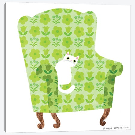 My Chair (Spring Green) Canvas Print #ARZ42} by Angie Rozelaar Canvas Art Print