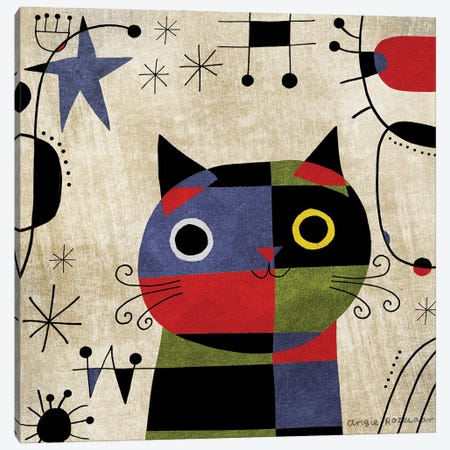 Joan Meowro Canvas Print #ARZ4} by Angie Rozelaar Canvas Wall Art