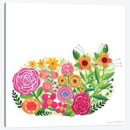 Floral Cat II Canvas Print #ARZ54} by Angie Rozelaar Canvas Print