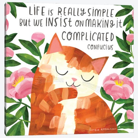 Life Is Simple Canvas Print #ARZ55} by Angie Rozelaar Canvas Art Print