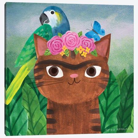 Frida Catlo Canvas Print #ARZ6} by Angie Rozelaar Canvas Art