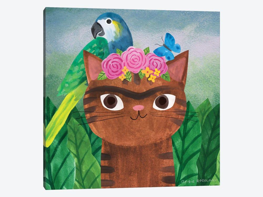 Frida Catlo by Angie Rozelaar 1-piece Canvas Art Print