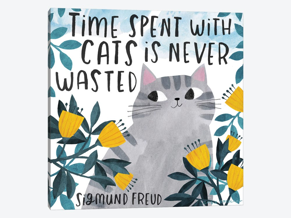 Time Spent With Cats by Angie Rozelaar 1-piece Art Print