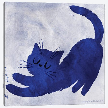 Yves Feline Canvas Print #ARZ7} by Angie Rozelaar Canvas Artwork