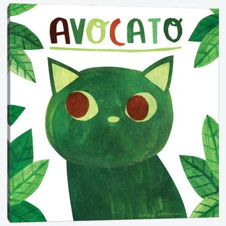 Avocato Canvas Print #ARZ8} by Angie Rozelaar Art Print