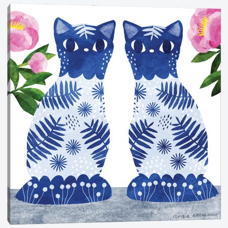China Cats II Canvas Print #ARZ9} by Angie Rozelaar Canvas Art Print