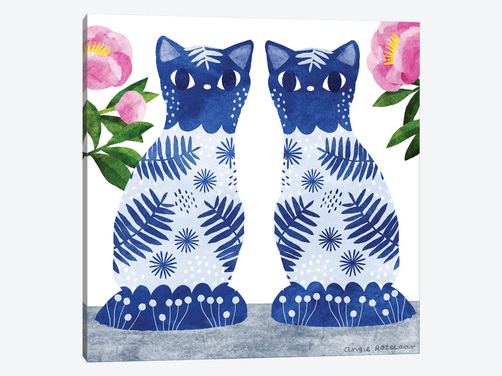 China Cats II by Angie Rozelaar 1-piece Canvas Wall Art