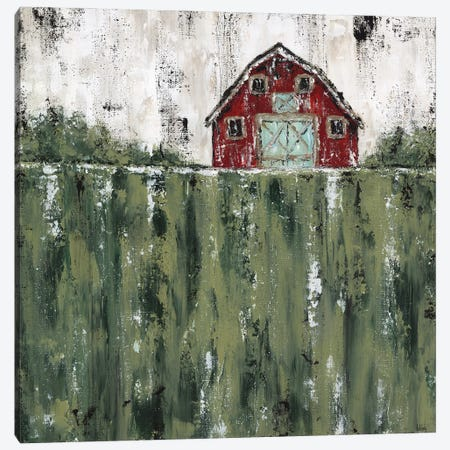 Red Barn Canvas Print #ASB102} by Ashley Bradley Canvas Artwork