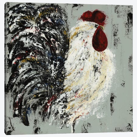 Rooster Canvas Print #ASB106} by Ashley Bradley Canvas Print