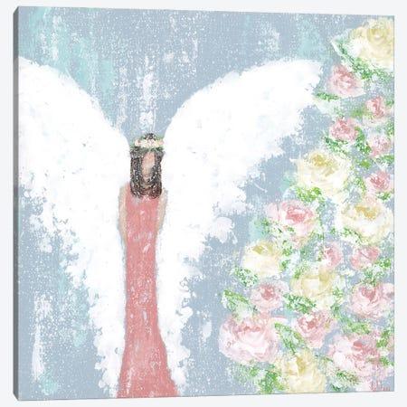 Spring Floral Angel Canvas Print #ASB108} by Ashley Bradley Canvas Wall Art