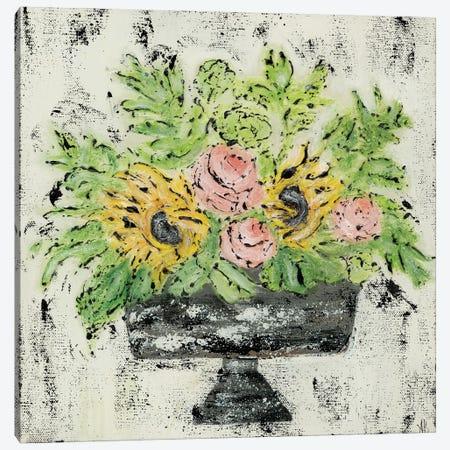 Sunflower Floral 3-Piece Canvas #ASB110} by Ashley Bradley Canvas Print