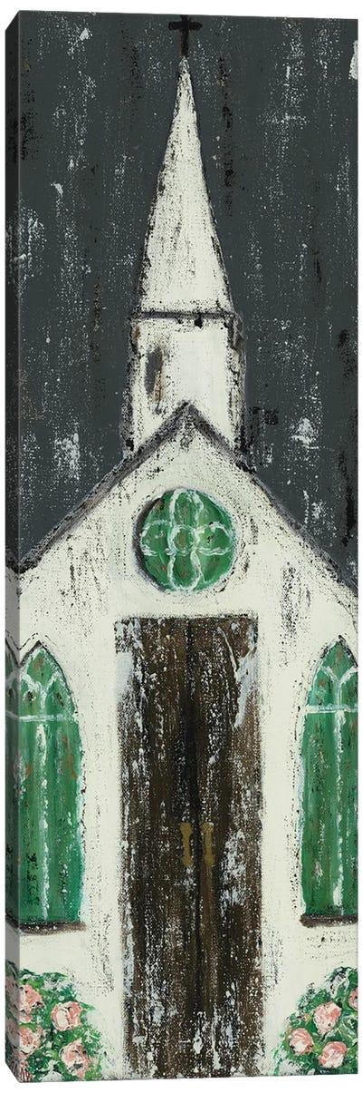 White Chapel Canvas Art Print