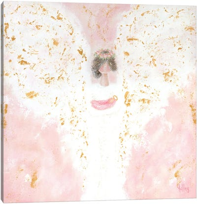 Pink Angel Baby Canvas Art Print