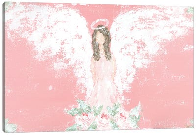 Tea Rose Guardian Angel Canvas Art Print