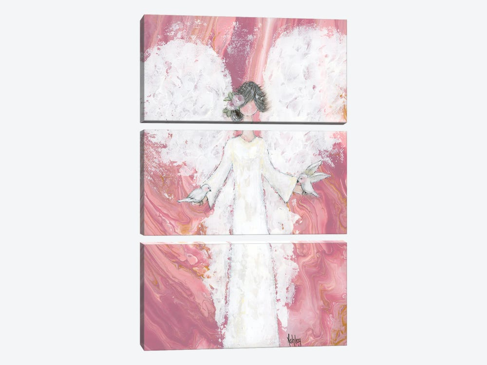 Peace Angel by Ashley Bradley 3-piece Canvas Artwork