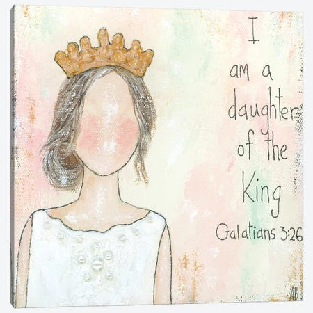 Daughter Of The King Canvas Print #ASB14} by Ashley Bradley Canvas Wall Art