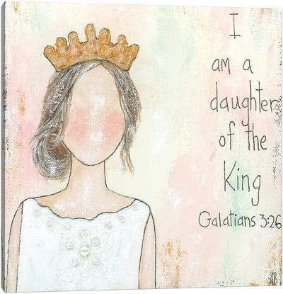 Daughter Of The King Canvas Art Print