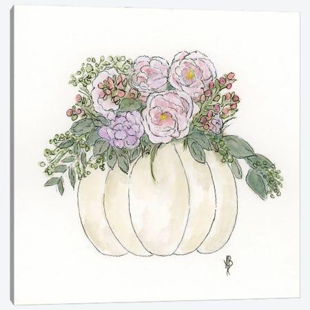 Pumpkin & Peonies Canvas Print #ASB156} by Ashley Bradley Canvas Art