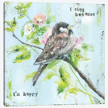 Eye On Sparrow Canvas Print #ASB15} by Ashley Bradley Canvas Wall Art