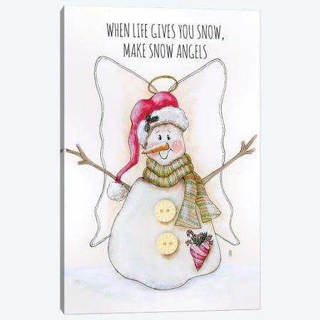 Snowman Angel Canvas Print #ASB160} by Ashley Bradley Canvas Artwork