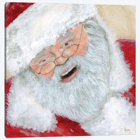 Vintage Santa Canvas Print #ASB161} by Ashley Bradley Canvas Wall Art