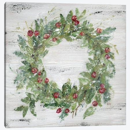 Berry Wreath Canvas Print #ASB165} by Ashley Bradley Canvas Print