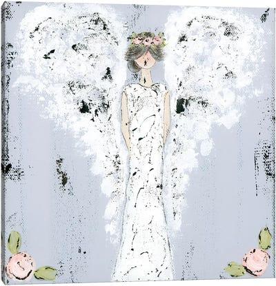Farmhouse Angel Canvas Art Print