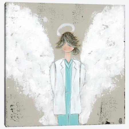 Female Doctor Angel Canvas Print #ASB17} by Ashley Bradley Canvas Wall Art
