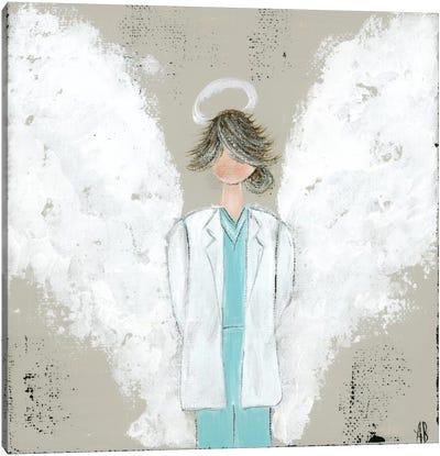 Female Doctor Angel Canvas Art Print