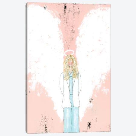 Female Doctor Blonde Canvas Print #ASB18} by Ashley Bradley Canvas Print