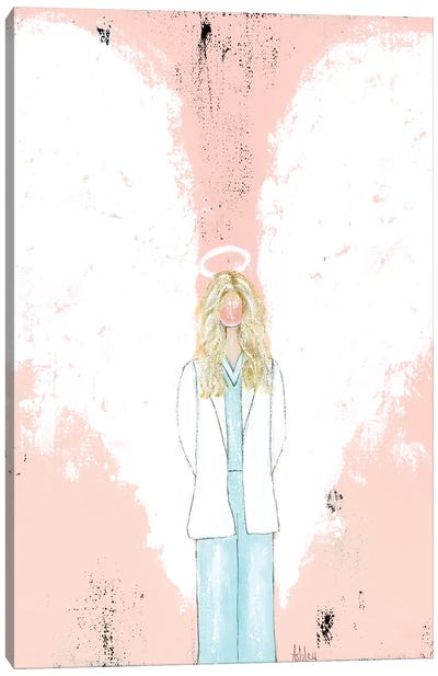 Female Doctor Blonde Canvas Art Print