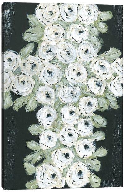 Flower Cross Canvas Art Print