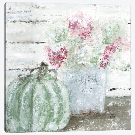 Green Pumpkin Floral Canvas Print #ASB22} by Ashley Bradley Canvas Artwork