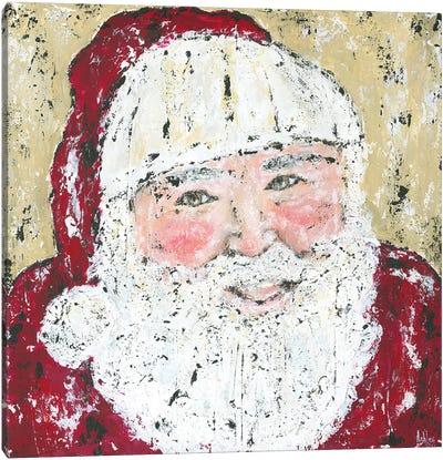 Jolly Santa Canvas Art Print