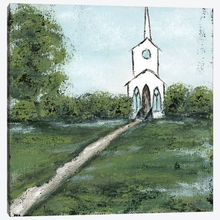 Little Country Church Canvas Print #ASB26} by Ashley Bradley Canvas Art Print
